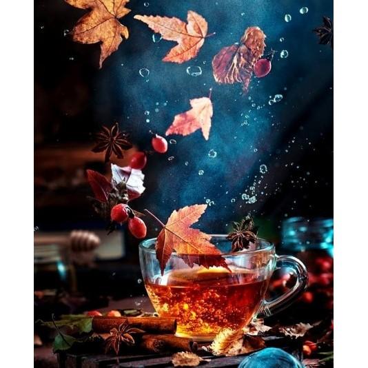 """Масло """"Волшебный чай"""" живопись по предварительному контуру"""