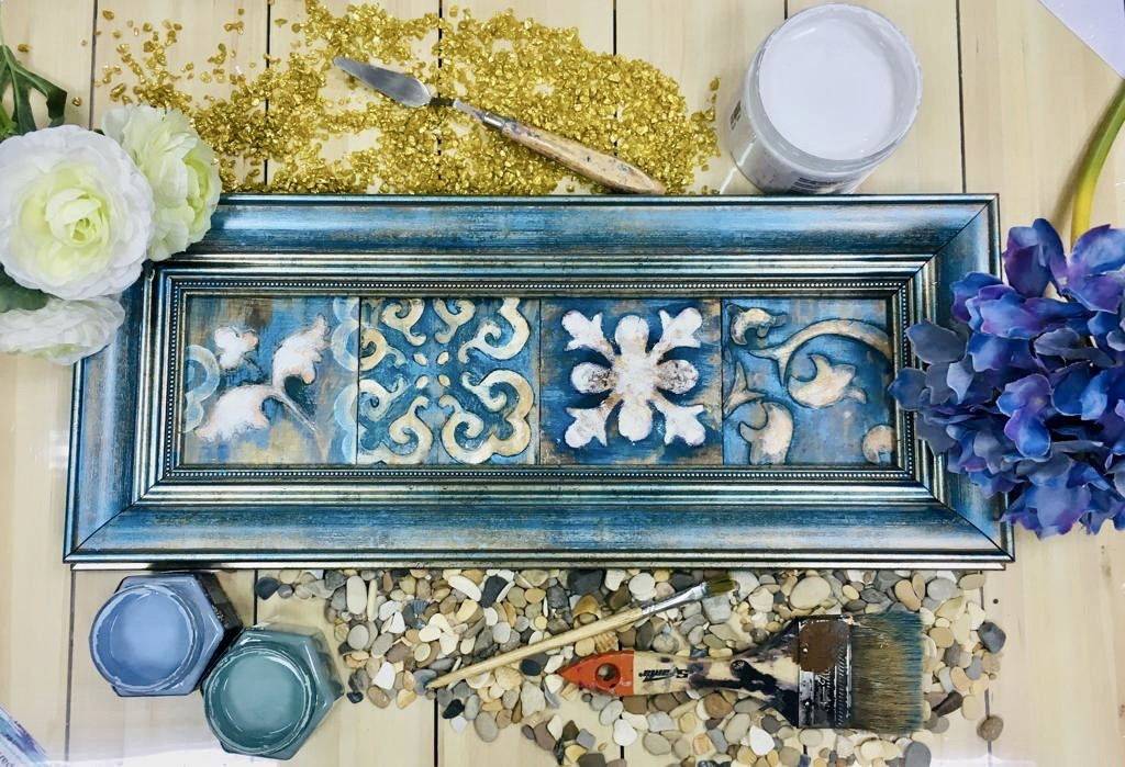 Декоративное панно из керамических плиток
