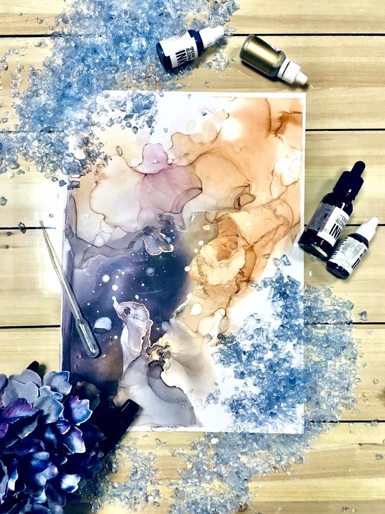 Alcohol ink - алкогольные чернила